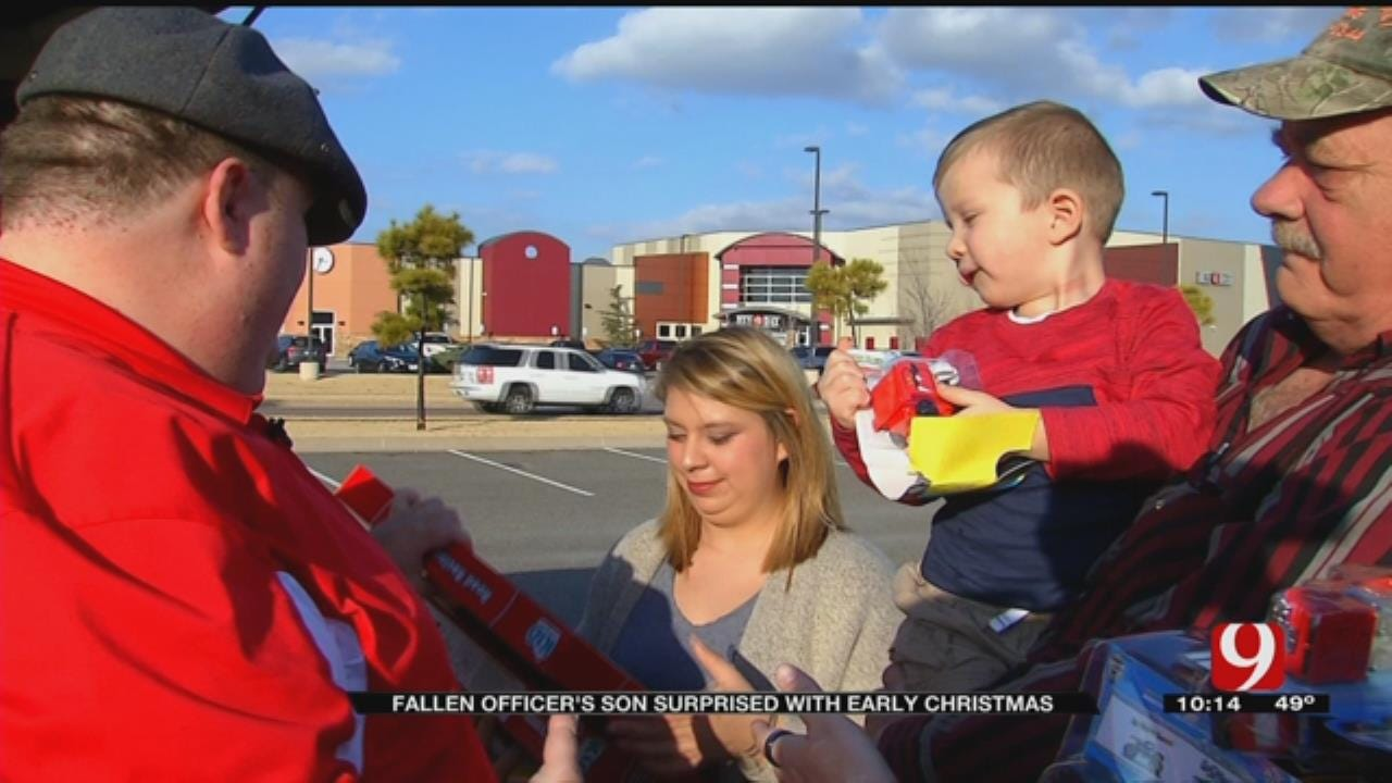 Fallen Officer's Son Surprised With Early Christmas