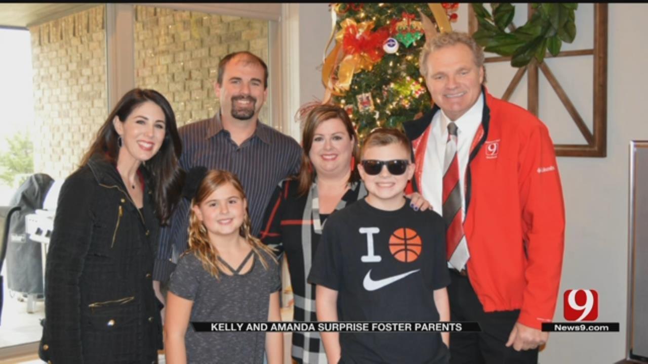 Kelly And Amanda Bring Christmas Joy To Foster Parents