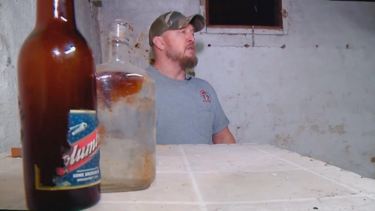 Remodeler Discovers Beer Bottles A Century Ago