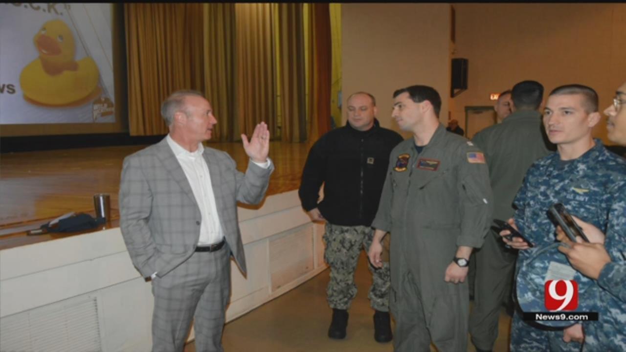 News 9's David Payne Stops By At Tinker Air Force Base