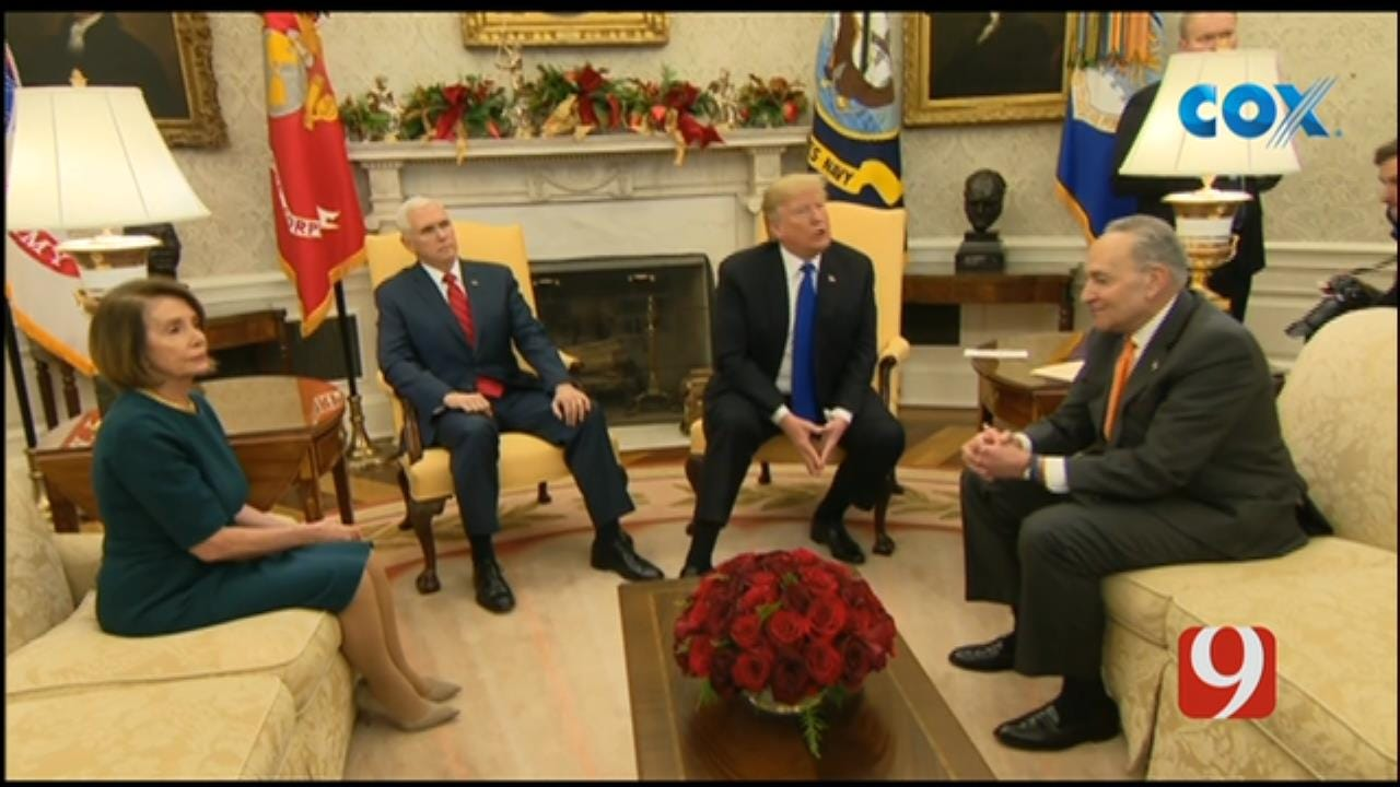 President Trump, Top Democratic Leaders Get Heated About Border Wall