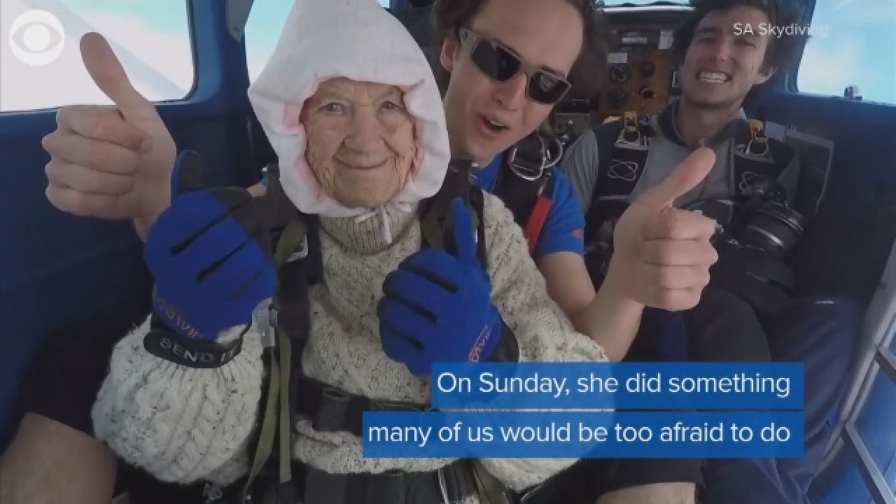 102-Year-Old Woman Skydives For Charity