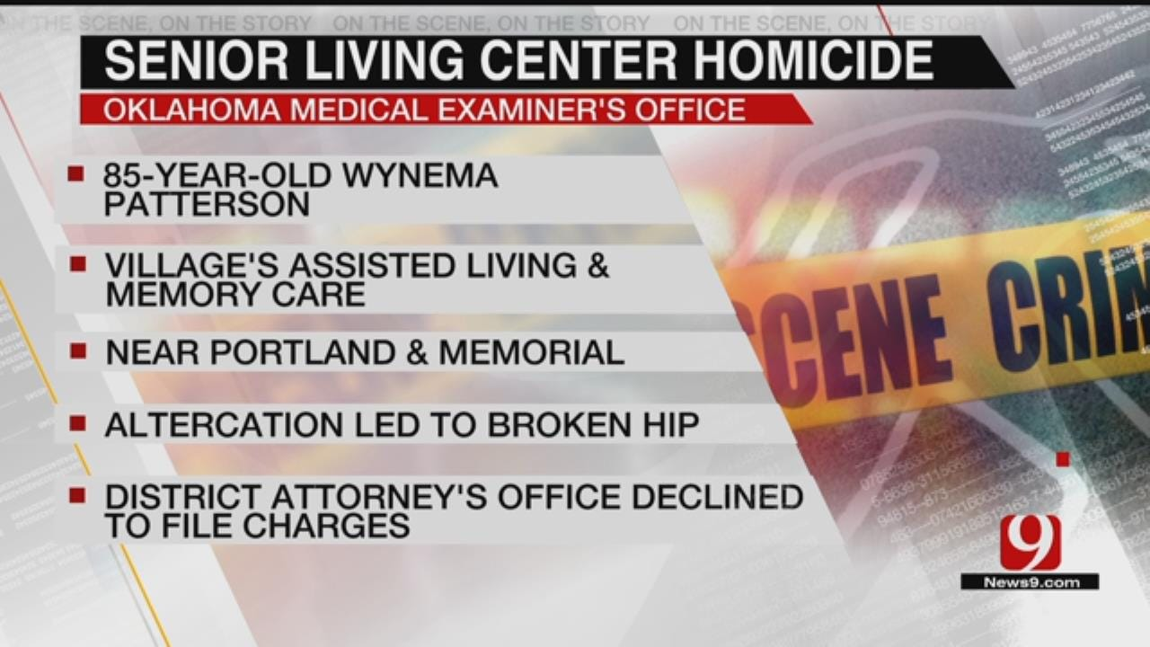 Medical Examiner Rules Death At NW OKC Senior Living Center A Homicide