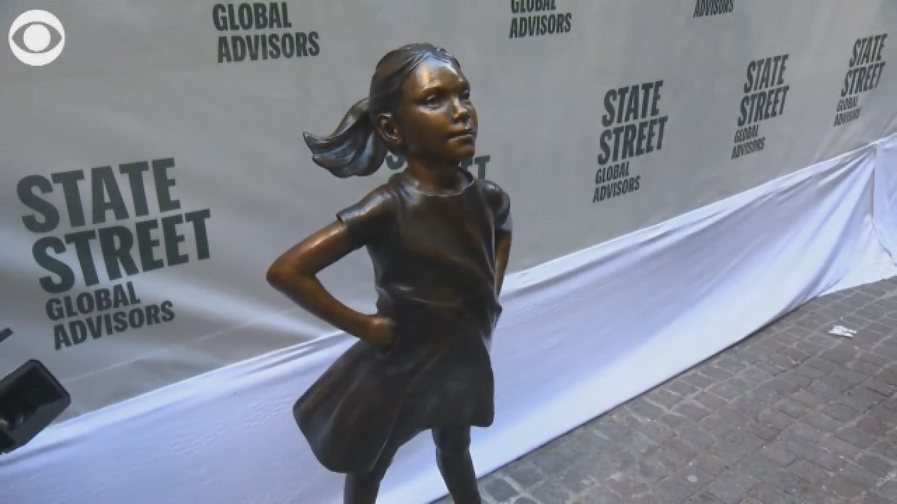 'Fearless Girl' Moved To New Location In NYC
