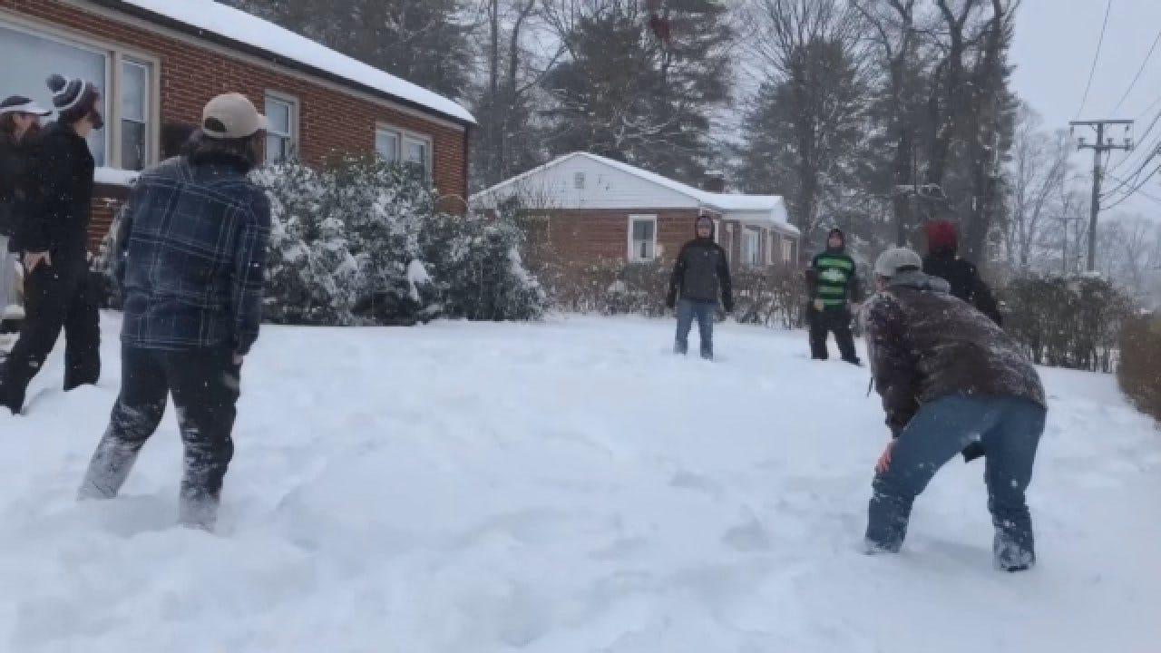 Residents Enjoy, Battle Historic Snows In Areas Of Virginia