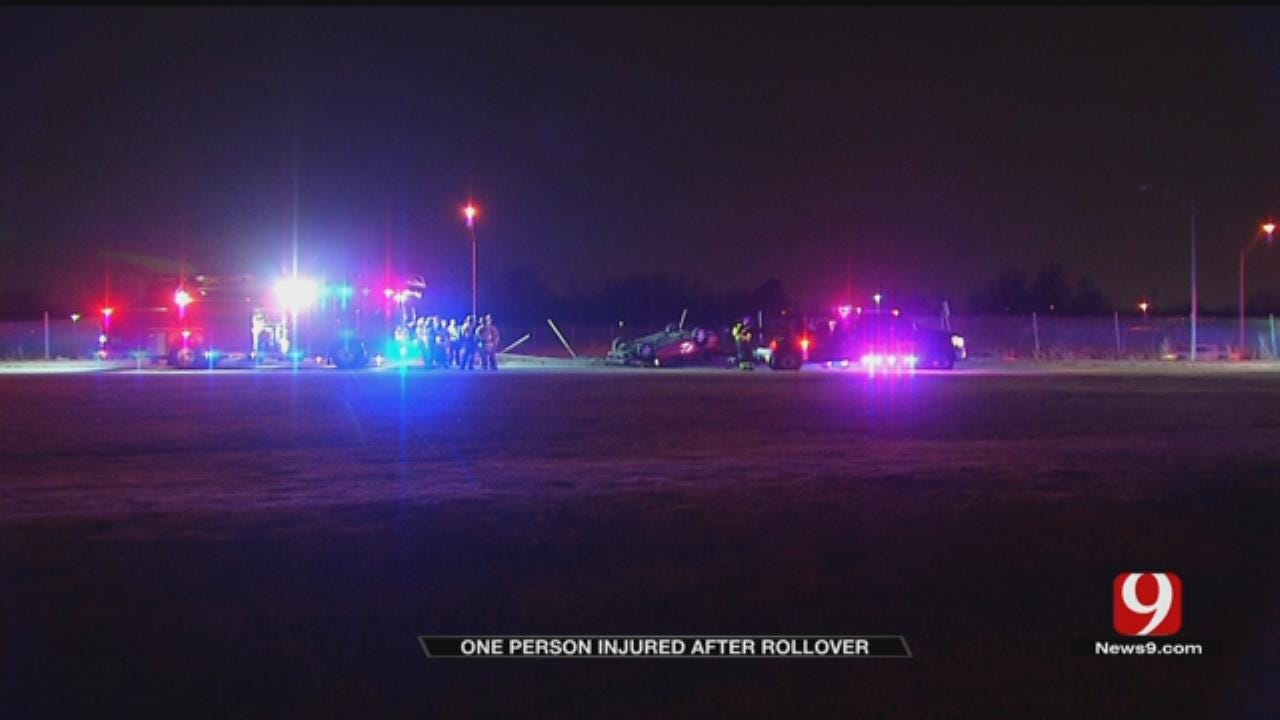 One Person Transported To Hospital After Rollover Crash On I-40