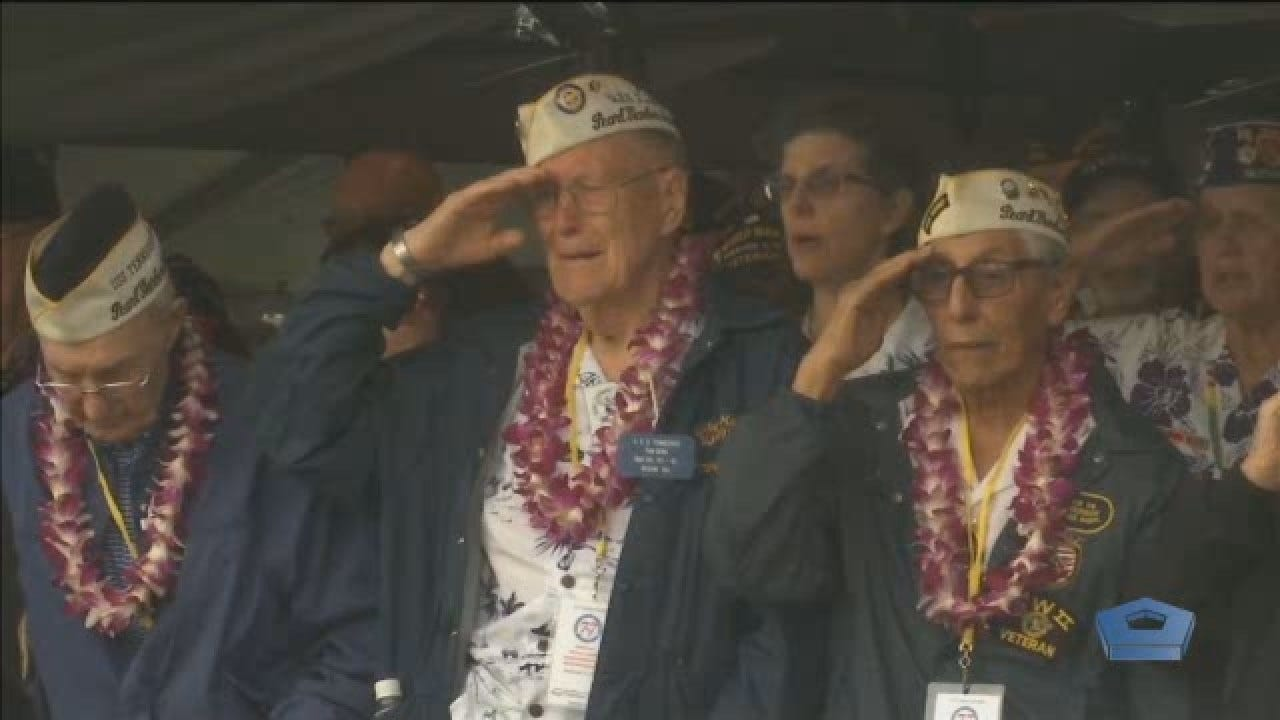 WWII Veterans Remember 77th Anniversary Of Pearl Harbor In Hawaii