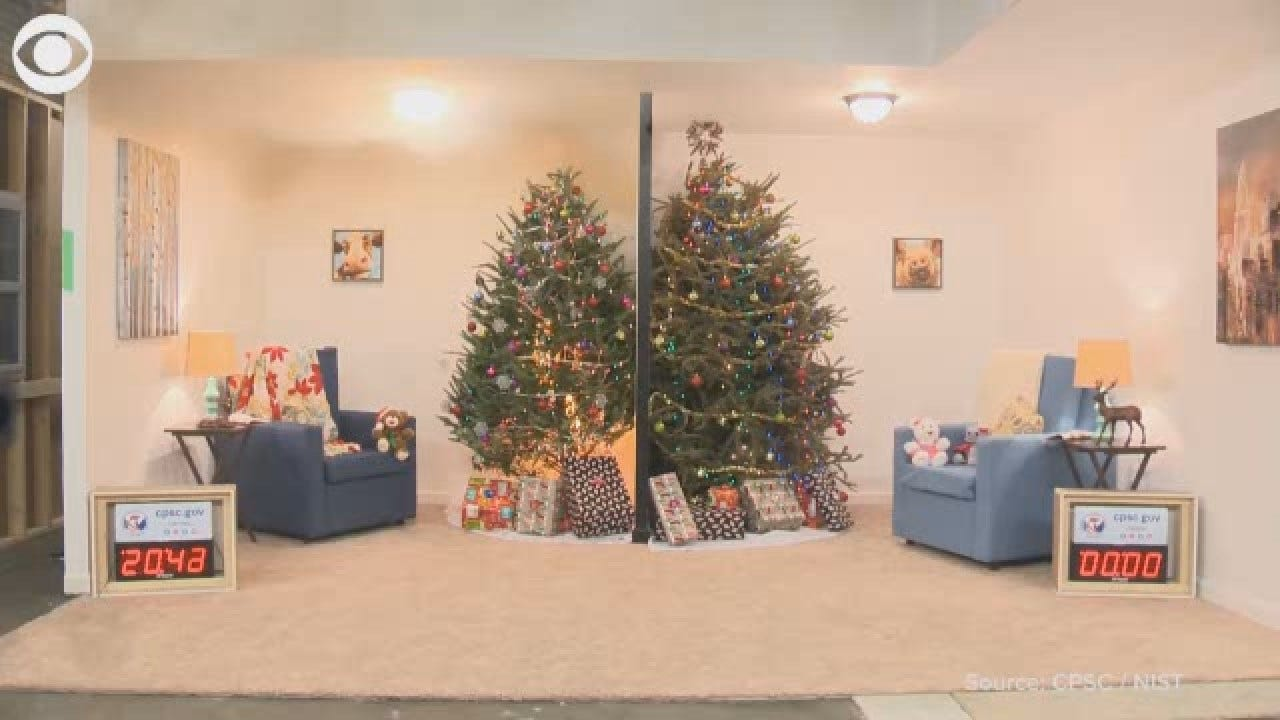 CPSC Demonstrates Potential Christmas Tree Fires, Safety Tips