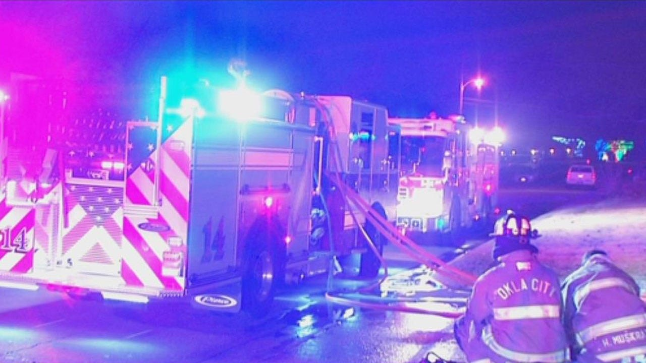 Police Respond To Fire At Vacant Apartment Building In NW OKC