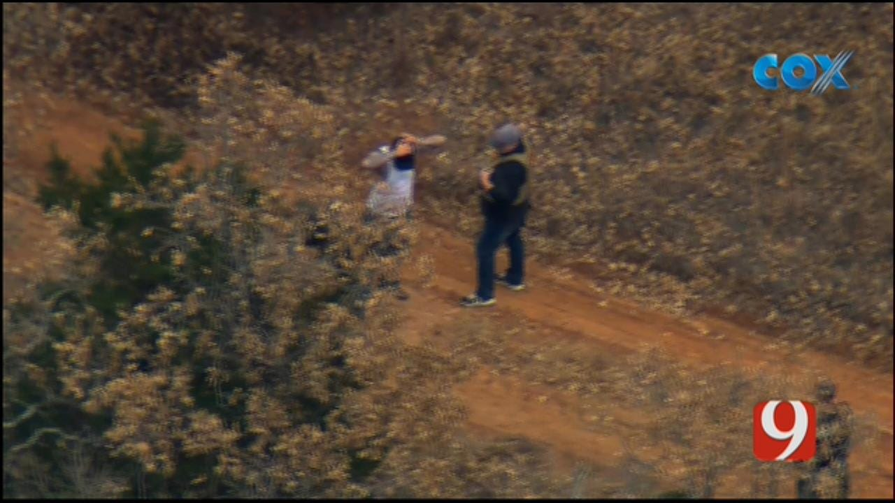 Bob Mills SkyNews 9 Flies Over Arrest After Standoff In Wynnewood