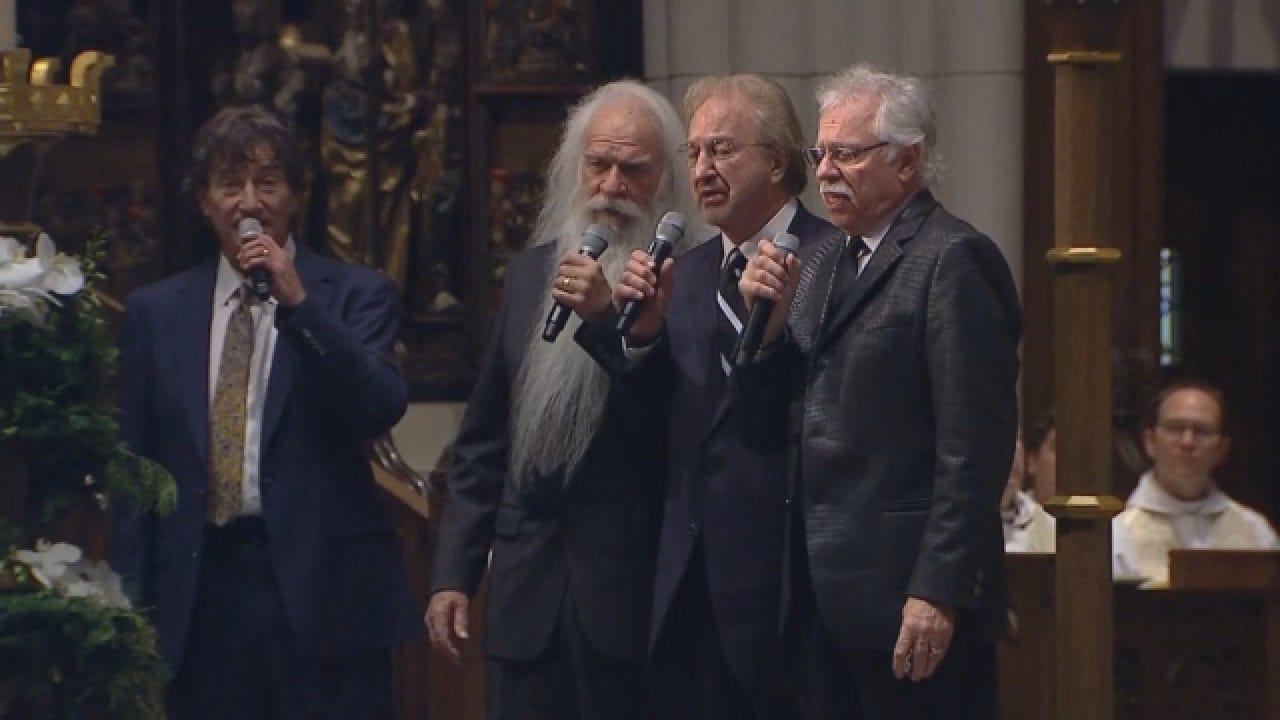 The Oak Ridge Boys Sing At President George HW Bush's Funeral In Houston