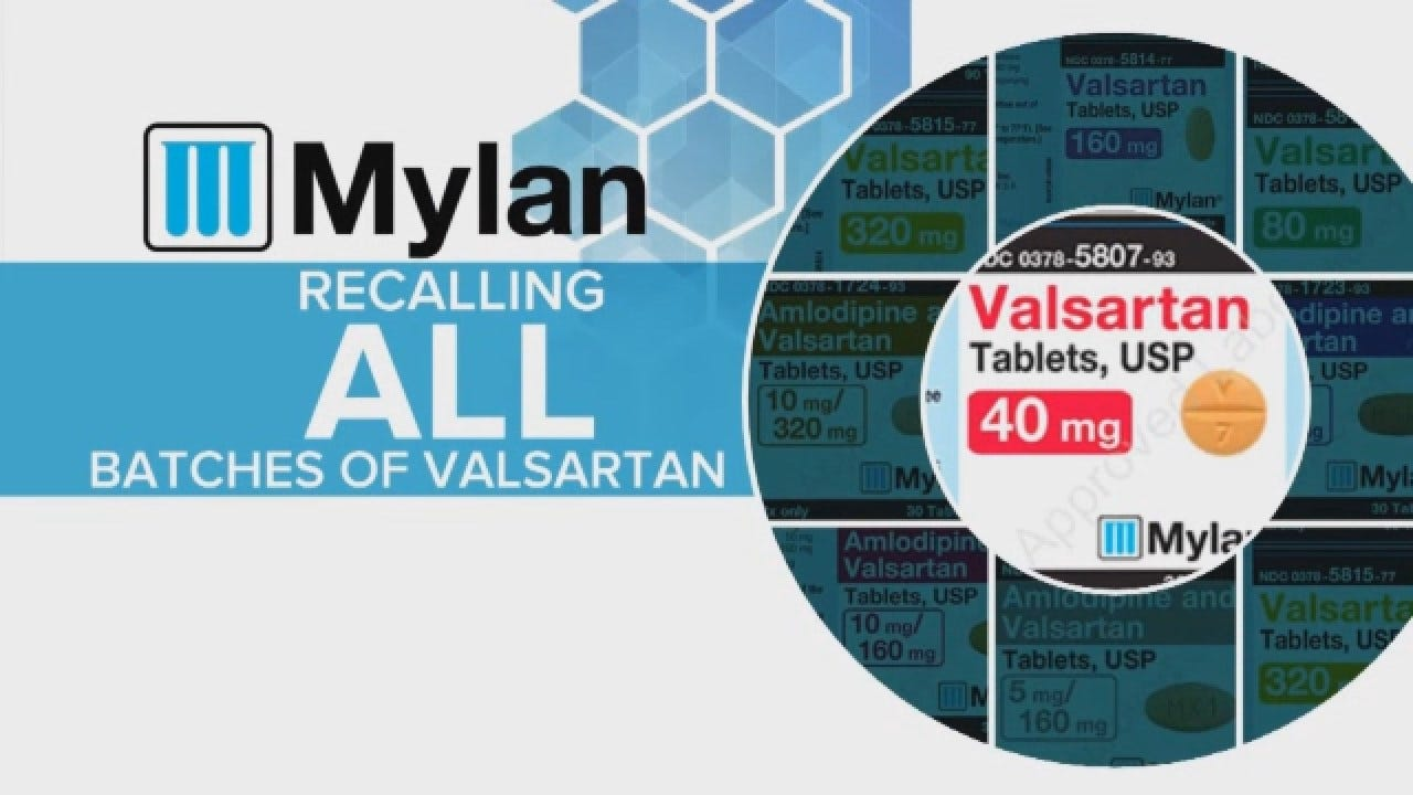 Mylan Expands Nationwide Recall Of Blood Pressure Medication