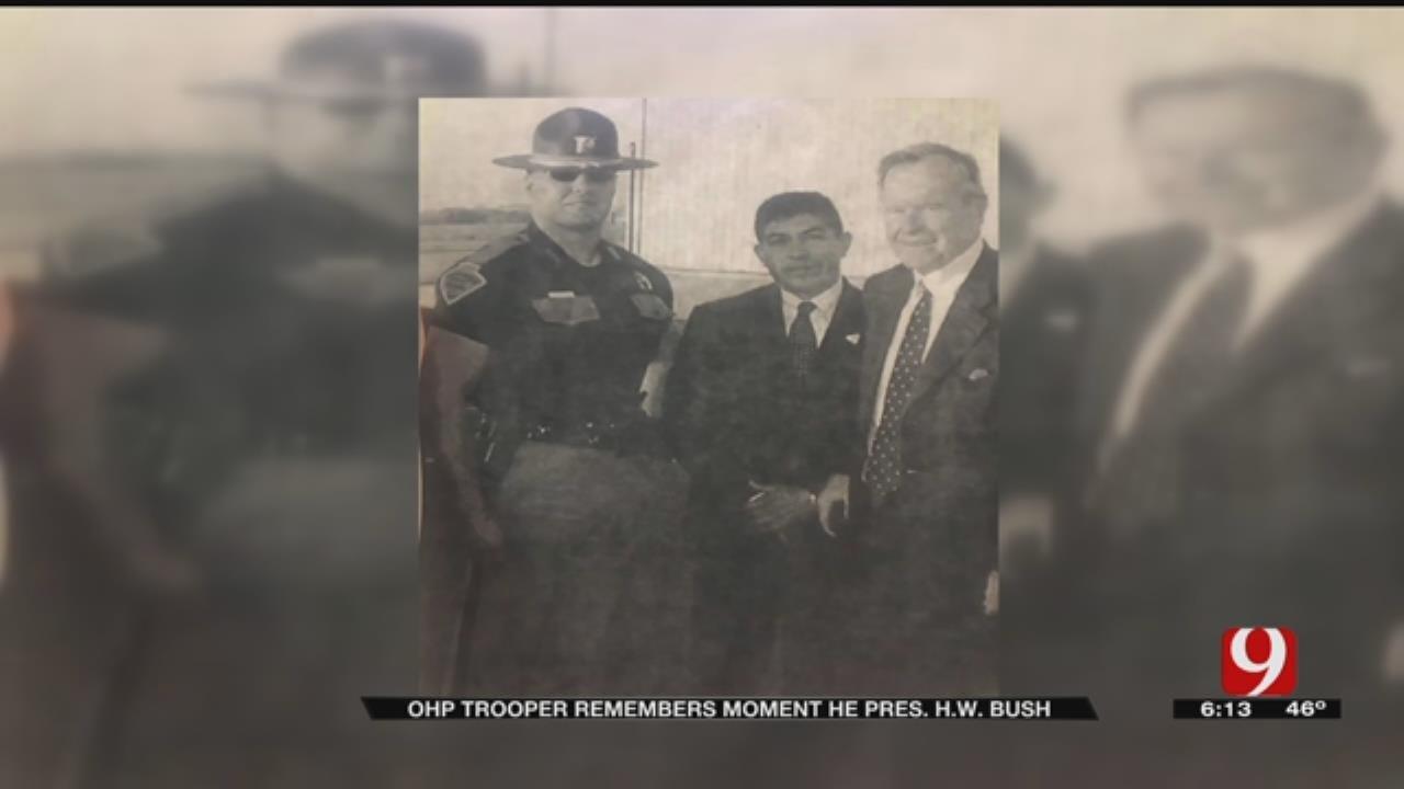 OHP Trooper Remembers Meeting George H.W. Bush