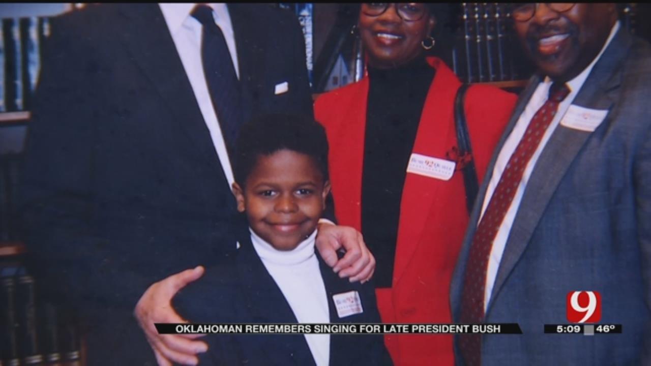 Oklahoman Remembers Singing For Late President Bush