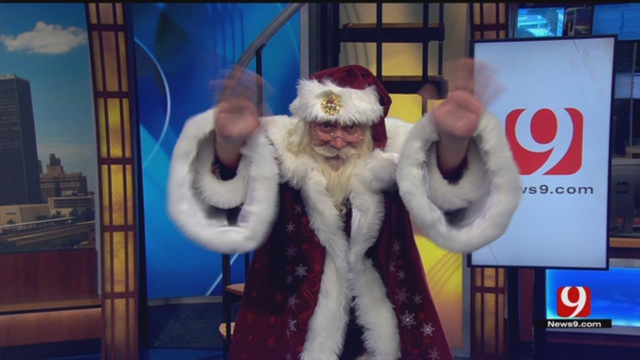 Santa Makes Surprise Appearance On News 9