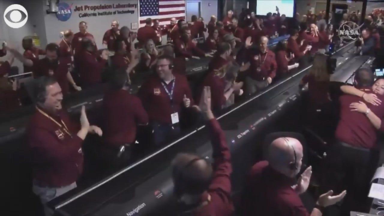 NASA Lands Spacecraft On Mars
