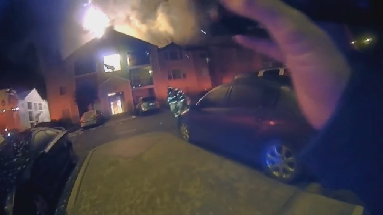 Norman PD Releases Bodycam Video Of Officers Responding To Apt. Fire