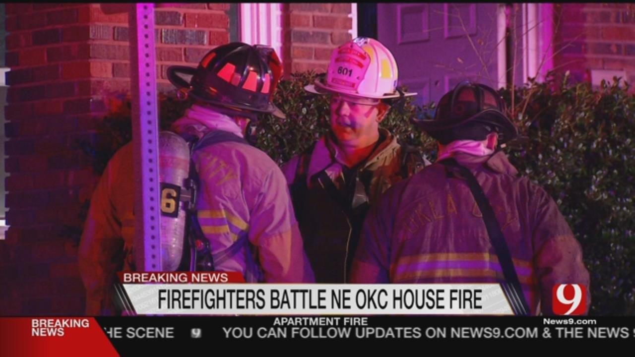 Crews Battled Duplex Blaze In NE OKC Overnight