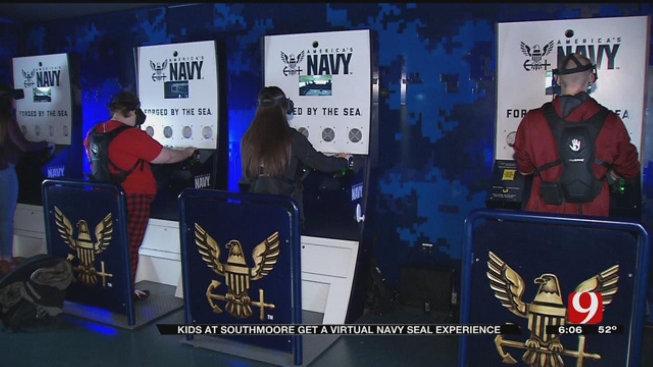 Navy Uses Virtual Reality For Recruiting Event At Moore High School