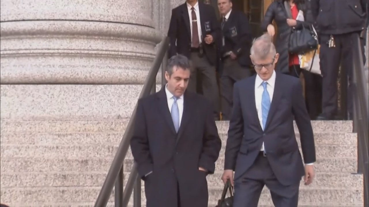 Former Trump Lawyer Michael Cohen Walks Out Of Courthouse