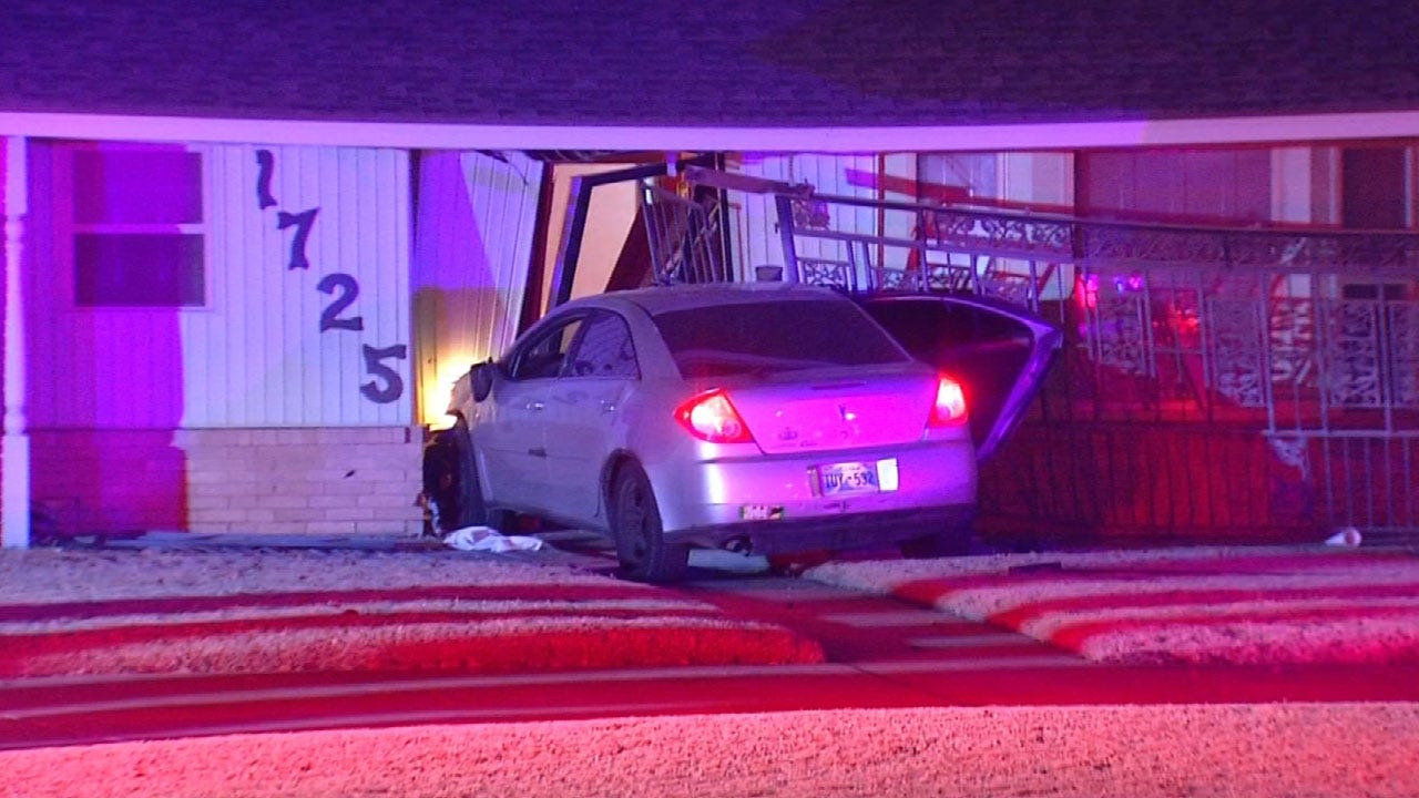 Suspected Drunk Driver Crashes Into House In SE OKC