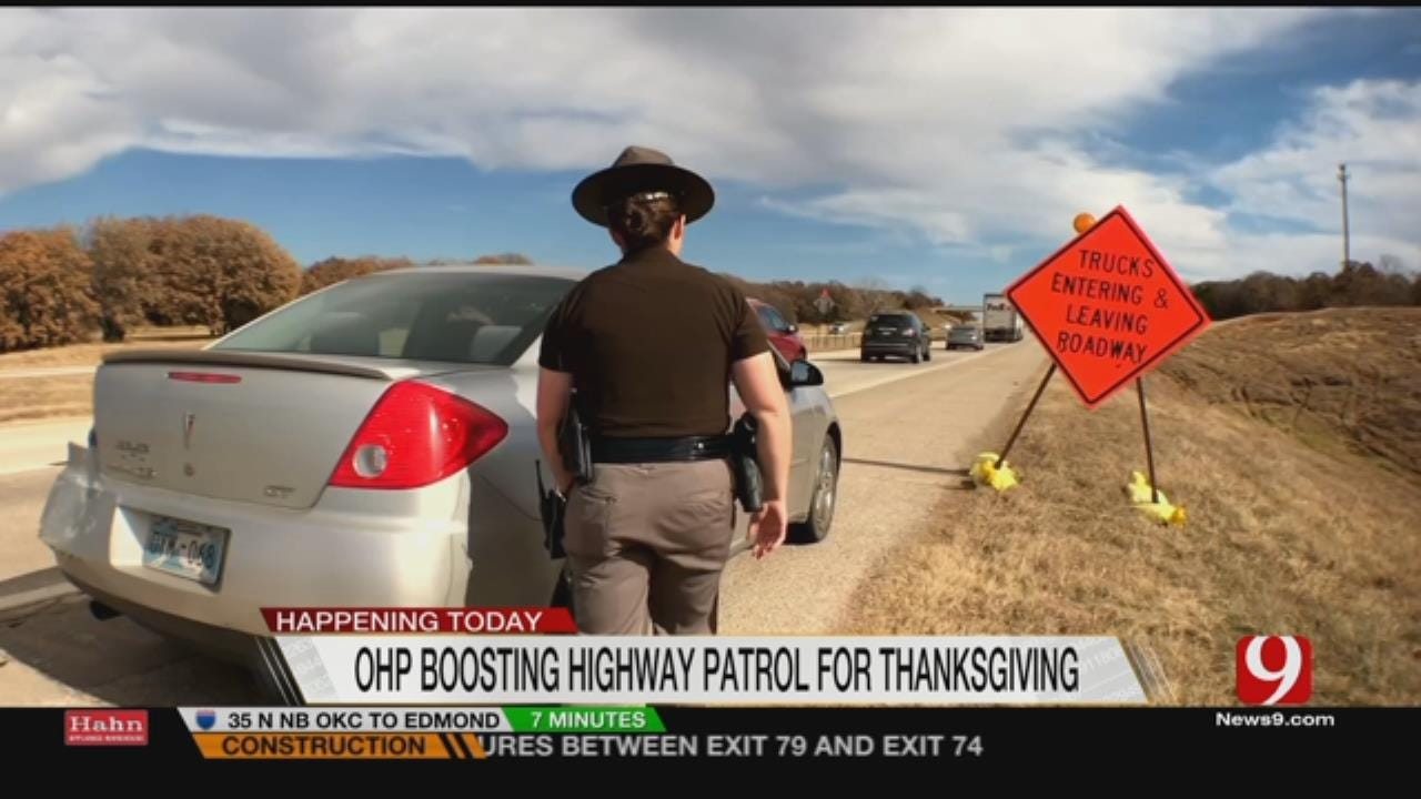 OHP Troopers Ramp Up Patrol During Thanksgiving Holiday