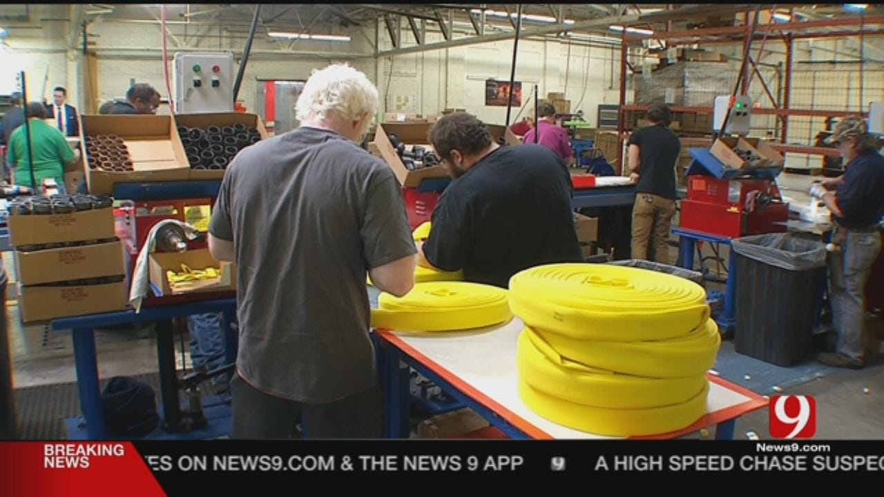 Visually Impaired Oklahomans Making Fire Hoses Used In California Wildfires