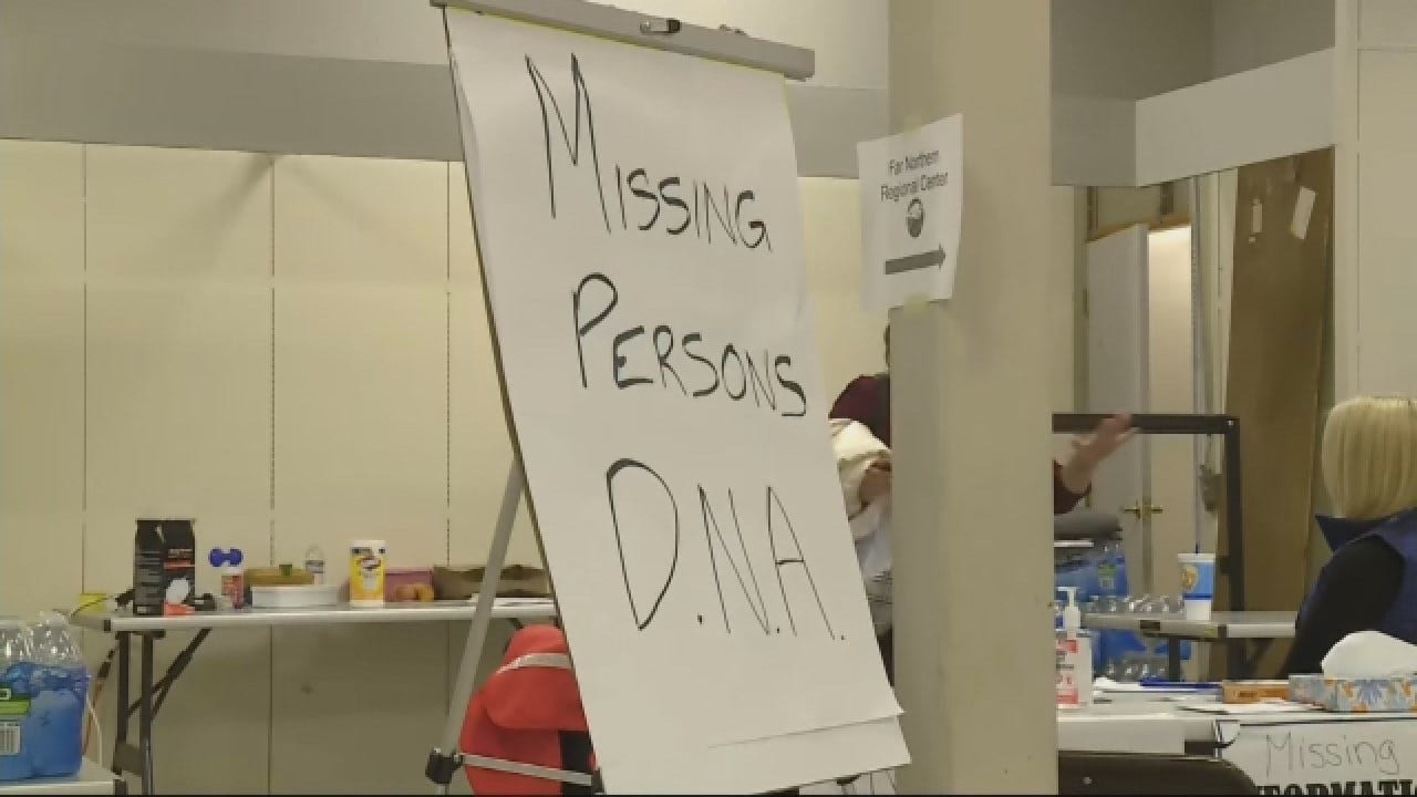 "Signs For ""Missing Persons DNA"" Now Up In CA Disaster Response Center"