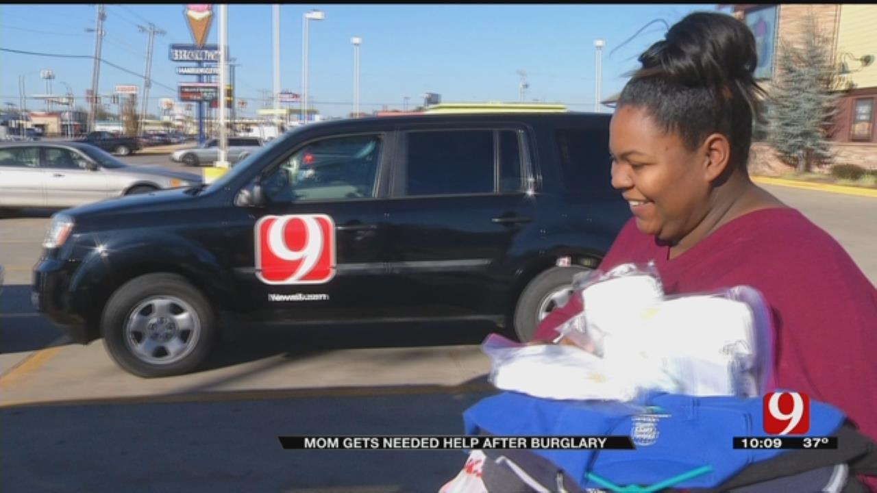 Non-Profit Helps Mom Of Newborn, 4-Year-Old After OKC Apt. Burglarized