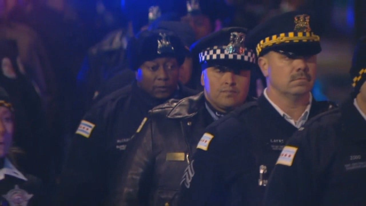 Procession For Officer Killed By Chicago Gunman