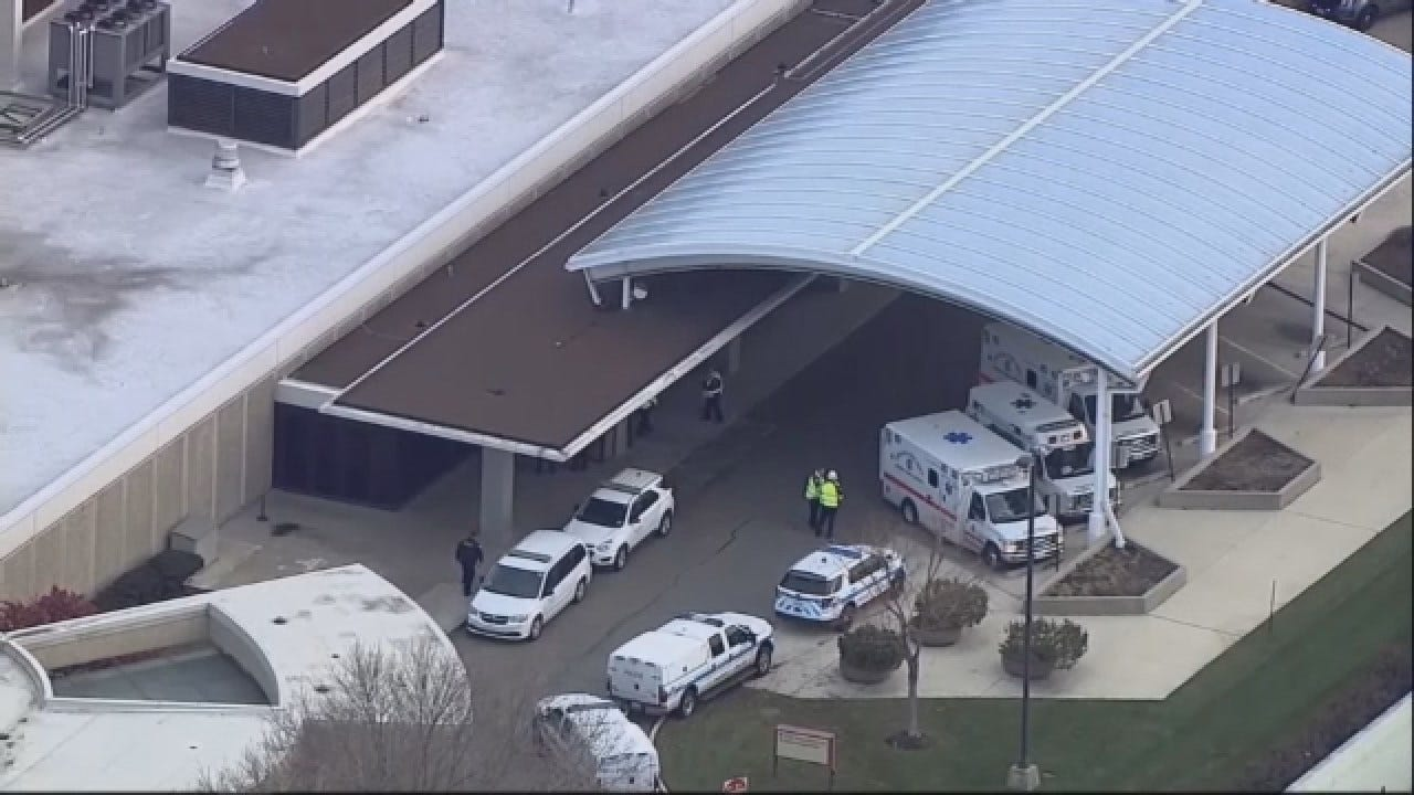 Aerials Over Scene Of Shooting Near Chicago Hospital