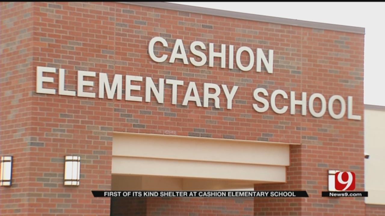 Cashion Elementary School Gets Bulletproof Storm Shelter