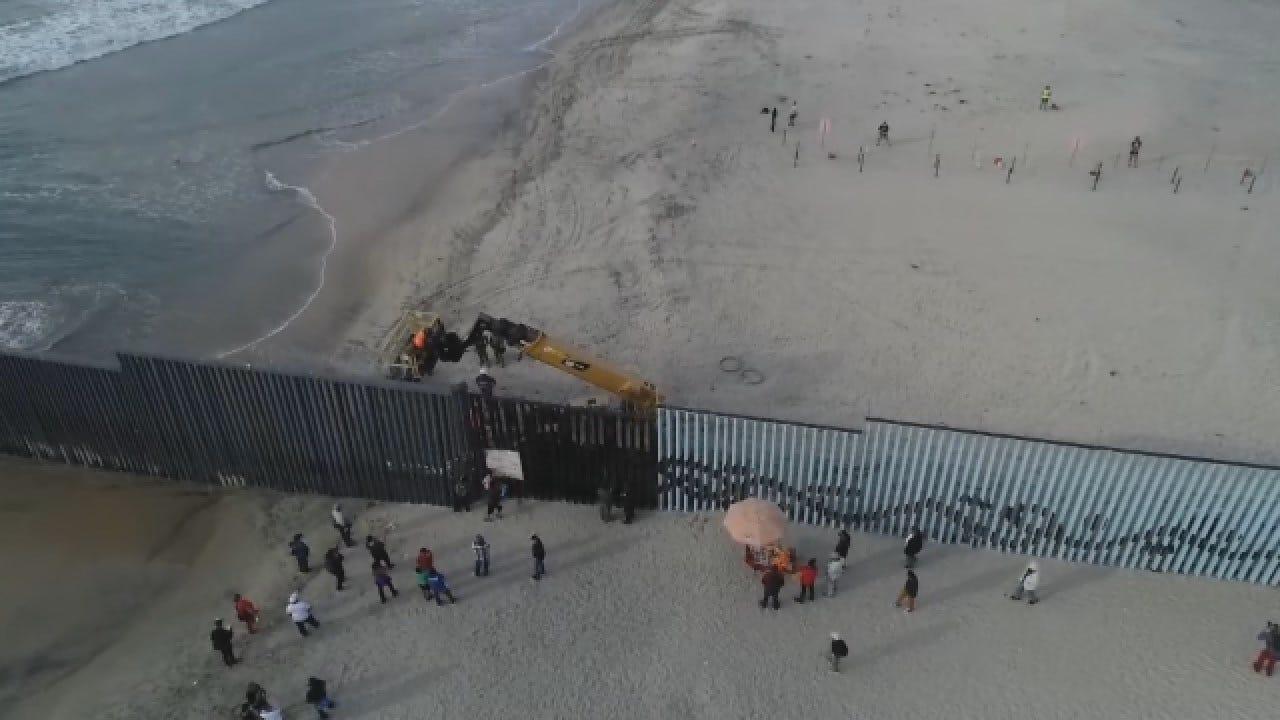 Migrants Gather At U.S. Border