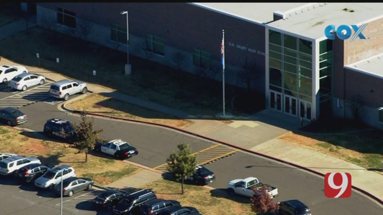 Bob Mills SkyNews 9 Flies Over A Lockdown At U.S. Grant High School
