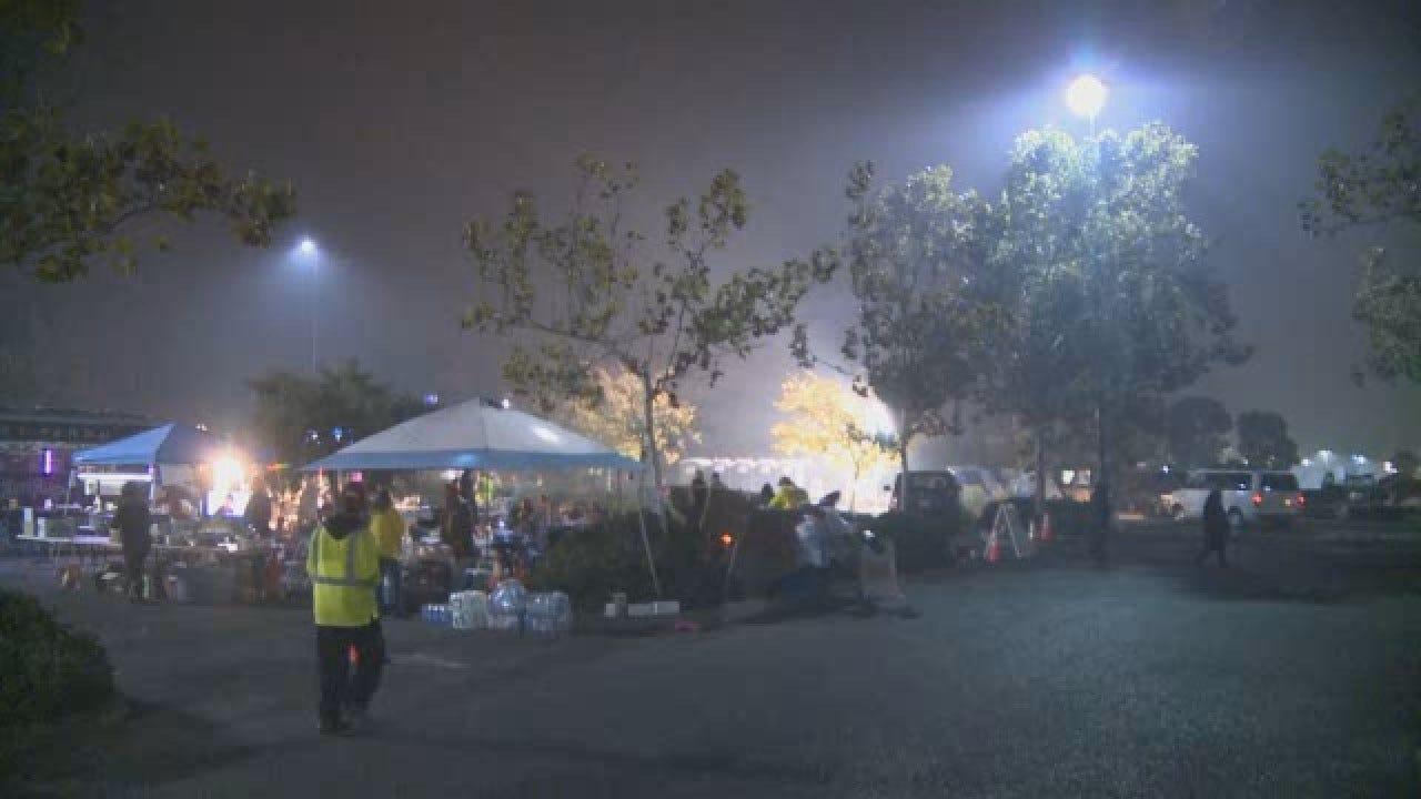 At Least 100 People Sleeping In Make-Shift Encampment In Walmart Parking Lot