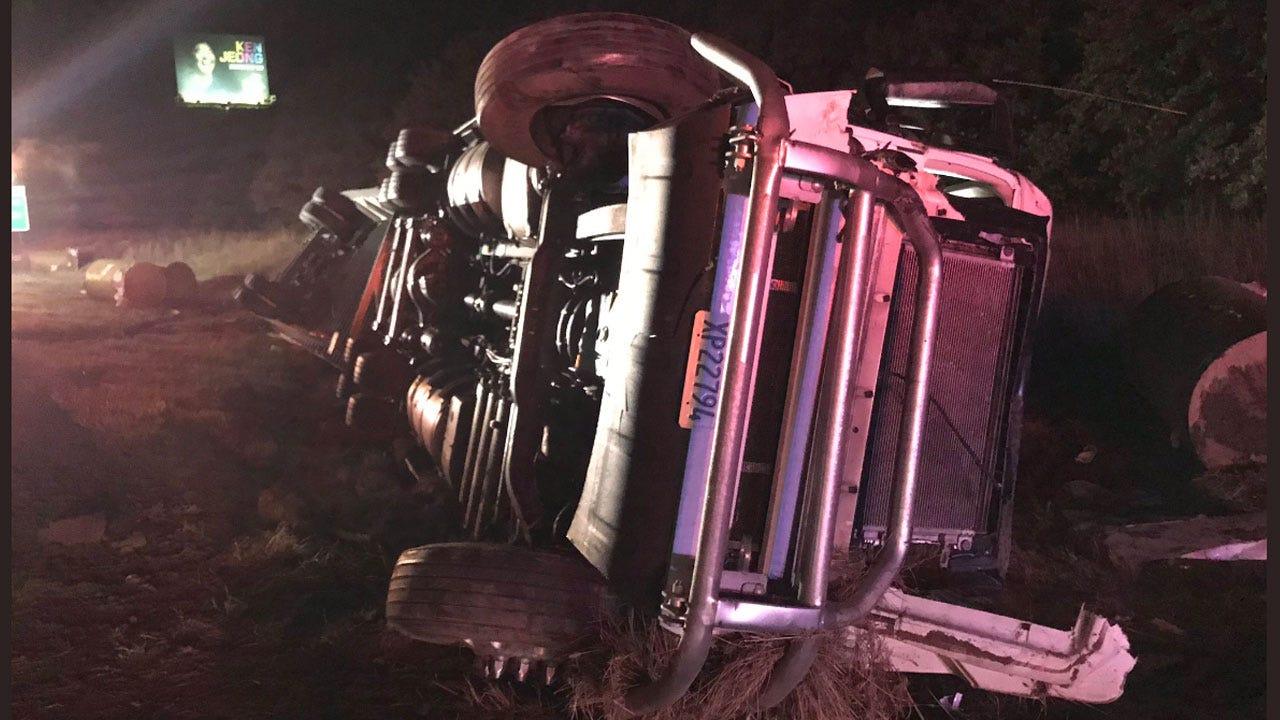 Latest: Overturned Semi On I-40 WB Near McLoud