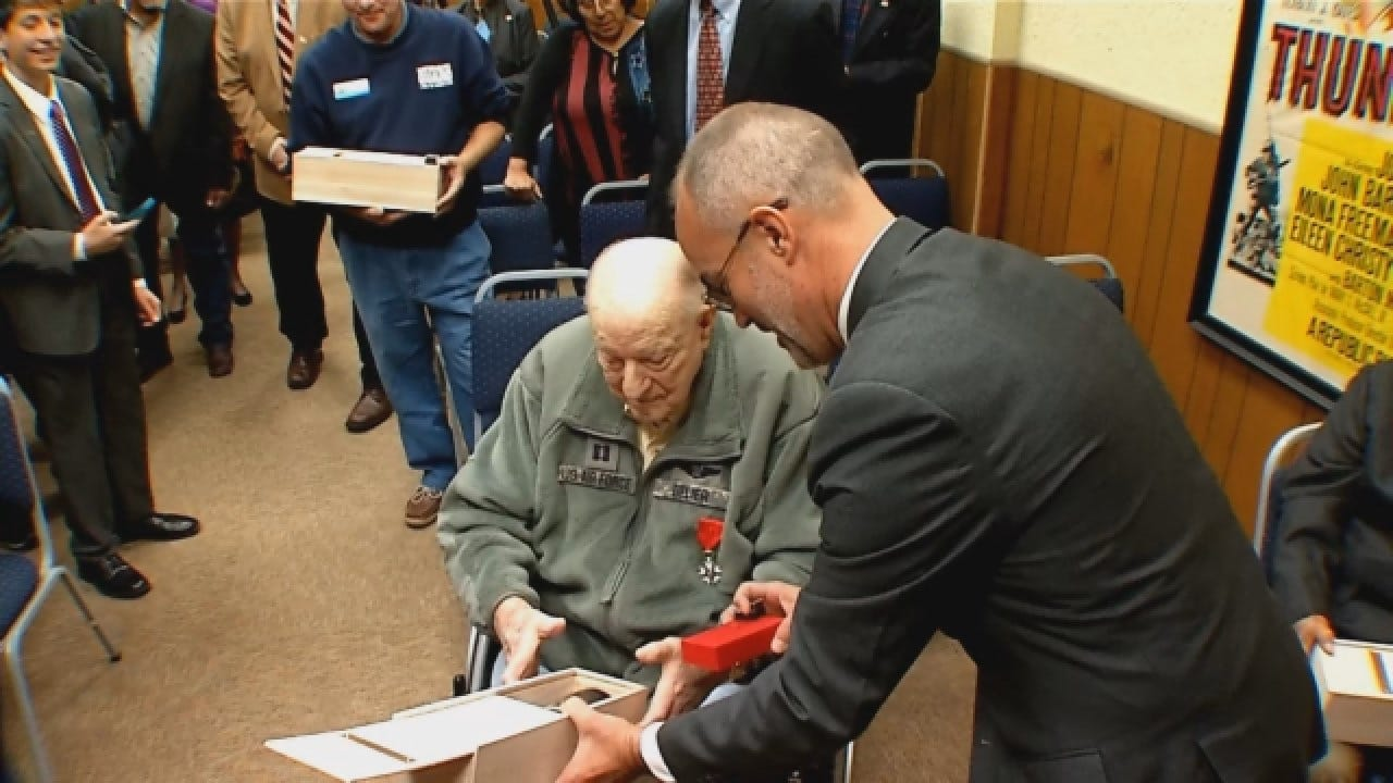Veteran Jack Delier Presented The French Legion Of Honor Medal