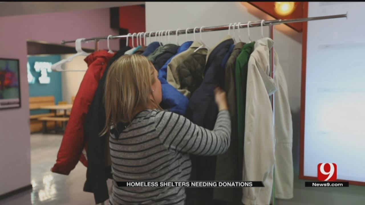 Donations Slow To Come In For OKC's Homeless As Winter Starts Early