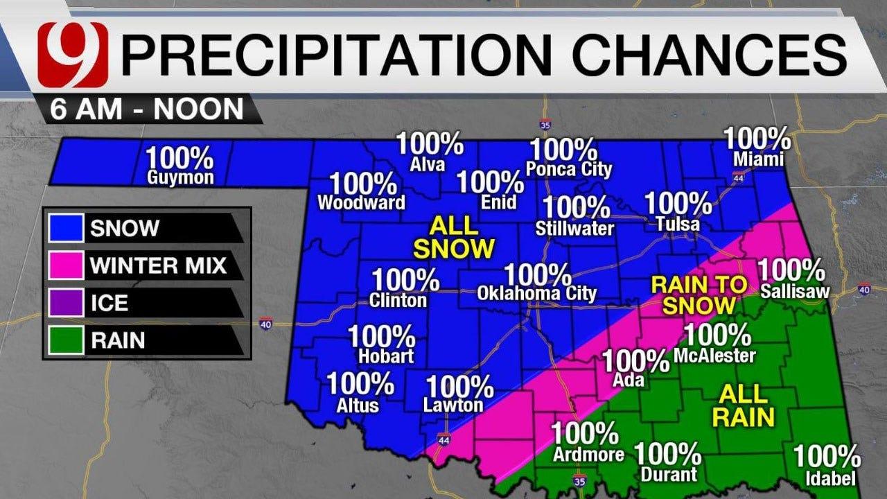 Monday Winter Weather Forecast