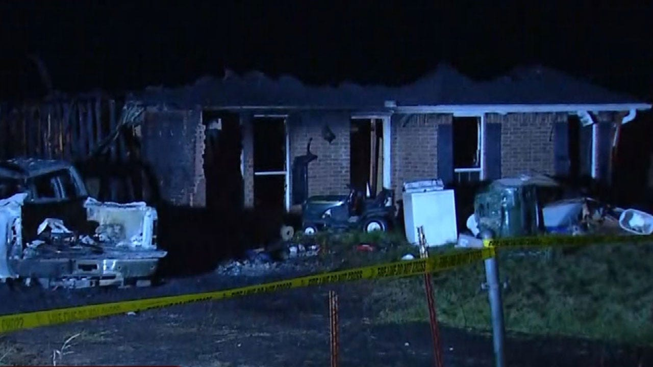 House Destroyed In Fire Near Logan County