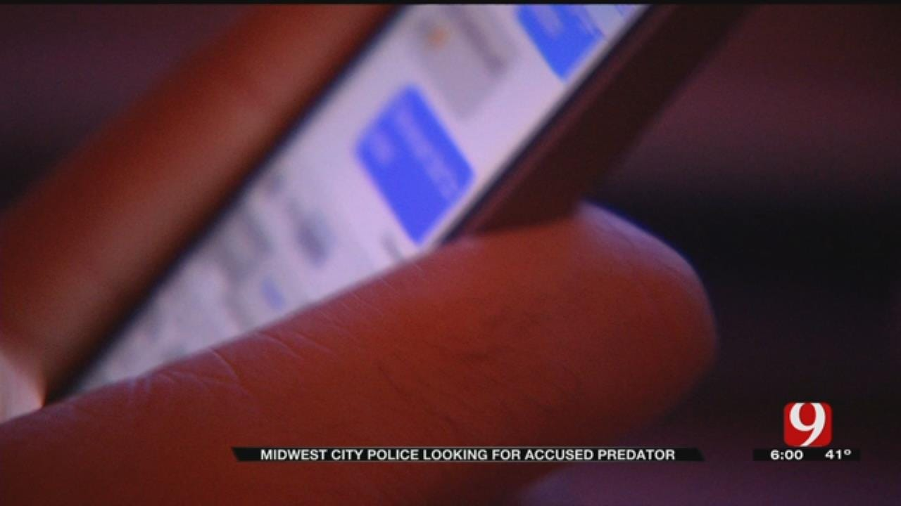 MWC Police Searching For Accused Child Predator