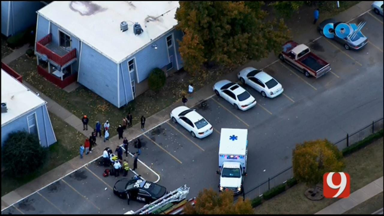 Bob Mills SkyNews 9 Flies Over A Shooting Investigation In NW OKC