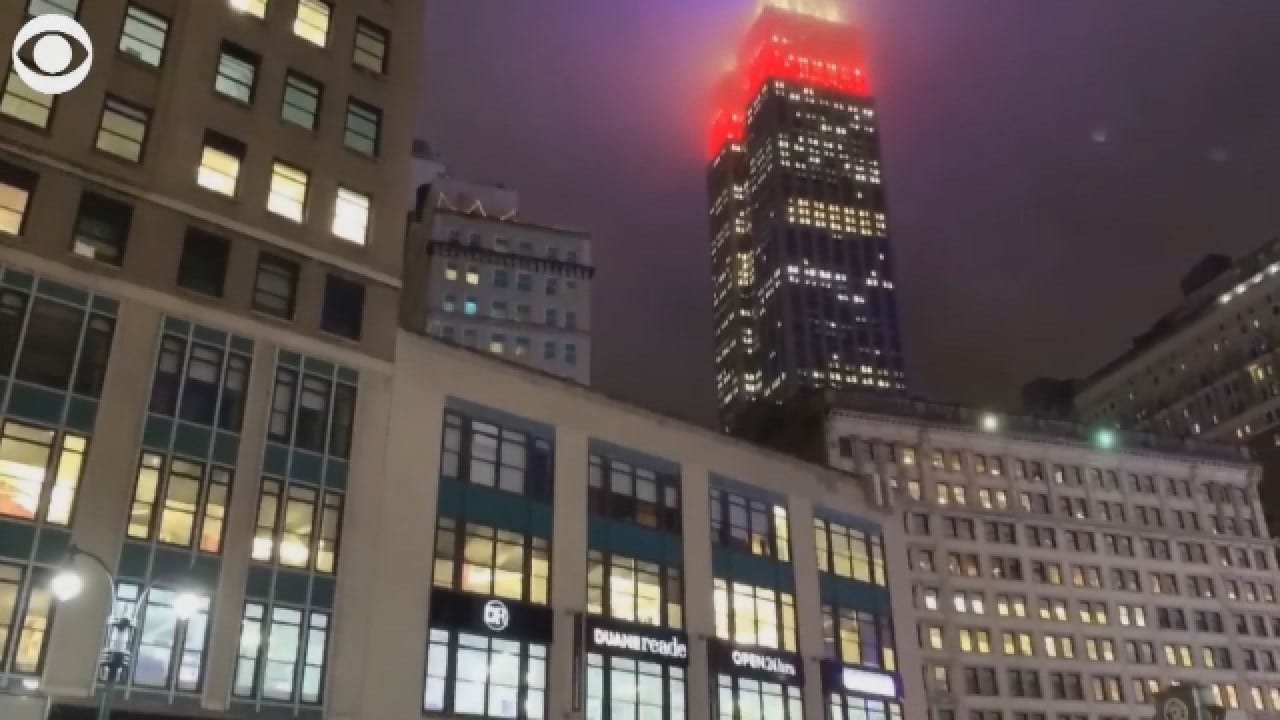 Empire State Building Glows In Red, White, Blue For Election Day