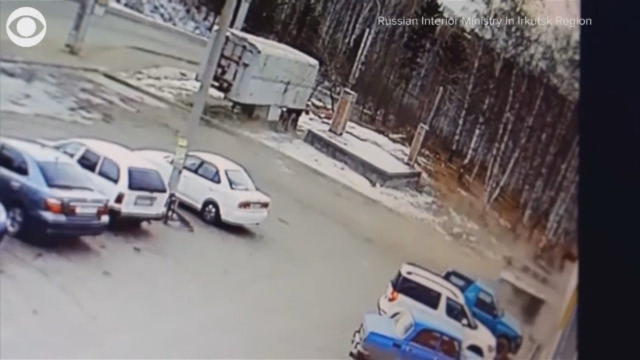 Caught On Camera: Truck Crashes Into Supermarket In Russia