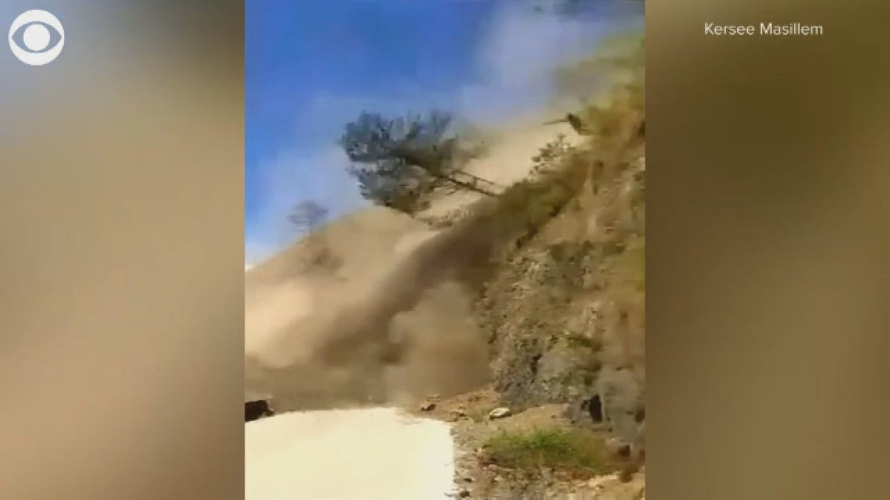 Caught On Camera: Landslide Almost Hits Bus