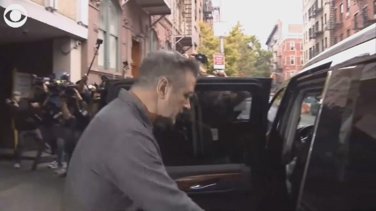Raw Video: Alec Baldwin Leaves Police Precinct After Arrest