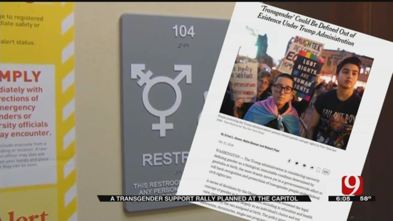 Oklahoma Transgender And intersex Support Rally Set For Sunday