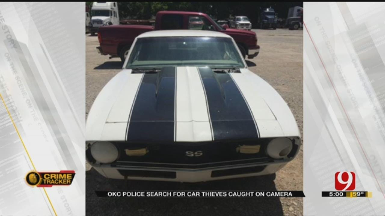 Suspects Caught On Camera Stealing OKC Family's Classic Car