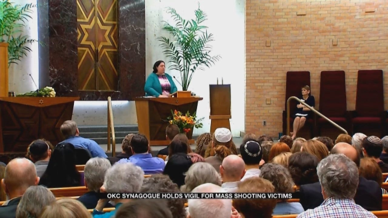 OKC Synagogue Holds Vigil For Pittsburgh Mass Shooting Victims