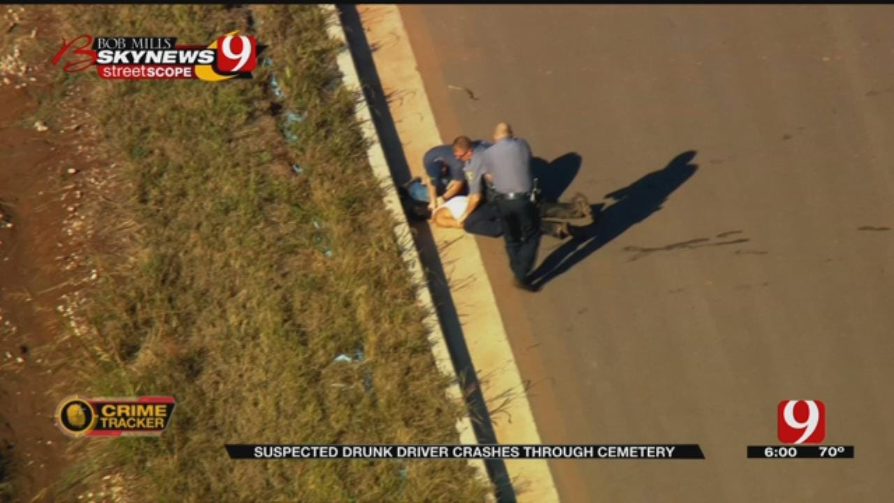 Chase Suspect Crashes In Bethany Cemetery; Taken Down By Taser